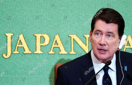 U.S. Ambassador to Japan William Hagerty speaks during a press conference in Tokyo