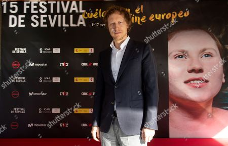 Laszlo Nemes poses for the photographers during the presentation of his film 'Sunset' as part of 15th European Film Festival in Seville, southern Spain, 16 November 2018. The film competes in the official section of the festival running from 9 to 17 November 2018.