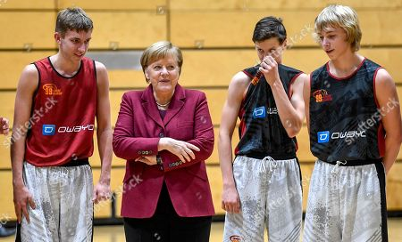German Chancellor Angela Merkel visit to Chemnitz