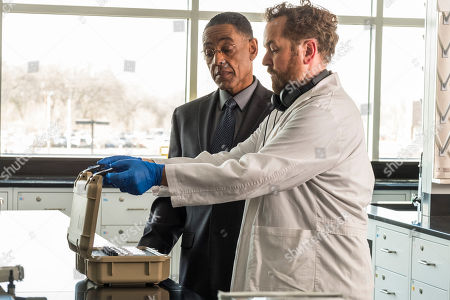 """Giancarlo Esposito as Gustavo """"Gus"""" Fring and David Costabile as Gale Boetticher"""