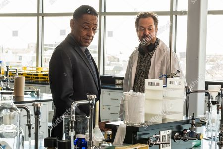 """Stock Photo of Giancarlo Esposito as Gustavo """"Gus"""" Fring and David Costabile as Gale Boetticher"""