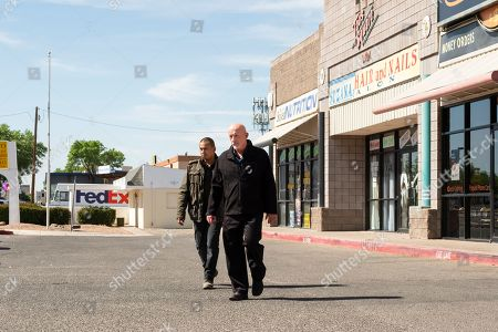 Jeremiah Bitsui as Victor and Jonathan Banks as Mike Ehrmantraut