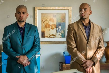 Stock Photo of Daniel Moncada as Leonel Salamanca and Luis Moncada as Marco Salamanca