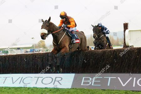 The Young Master and Sam Waley-Cohen win the Markel Insurance Amateur Riders Handicap Chase at Cheltenham from Station Master.