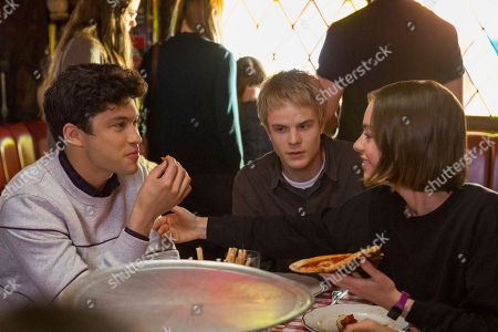 Graham Phillips as Nate, Graham Rogers as Evan Chapin and Brigette Lundy-Paine as Casey Gardner