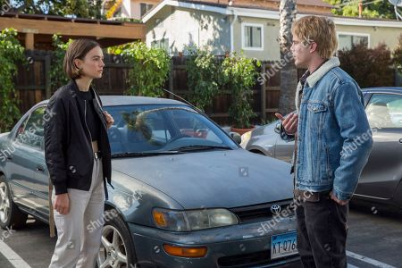 Brigette Lundy-Paine as Casey Gardner and Graham Rogers as Evan Chapin