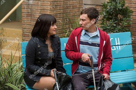 Ariela Barer as Bailey Bennett and Keir Gilchrist as Sam Gardner