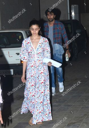Stock Picture of Alia Bhatt and Ranbir Kapoor
