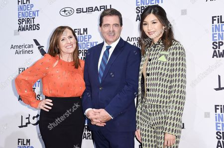 Molly Shannon, Josh Welsh, Gemma Chan. Molly Shannon, from left, Josh Welsh and Gemma Chan attend the 34th Film Independent Spirit Awards Nominations press conference at the W Hollywood, in Los Angeles