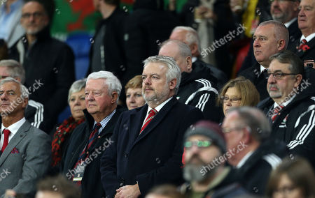 Wales First Minister Carwyn Jones watching the game.