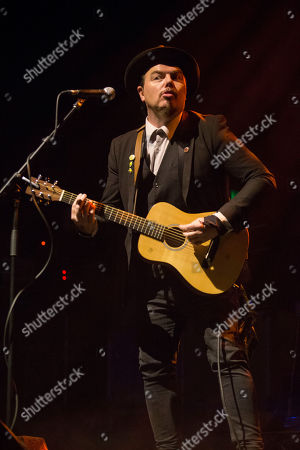 Editorial image of Jack Lukeman in concert at the O2 Academy, Glasgow, Scotland, UK - 16th November 2018