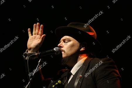 Editorial photo of Jack Lukeman in concert at the O2 Academy, Glasgow, Scotland, UK - 16th November 2018