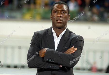 Cameroon's head coach Clarence Seedorf during the Africa Cup of Nations (AFCON) 2019 qualifying soccer match between Morocco and Cameroon in Casablanca, Morocco, 16 November 2018.