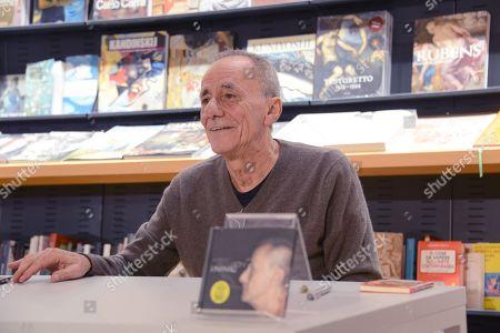 Stock Picture of The singer Roberto Vecchioni presents his new album L INFINITO at Feltrinelli in Via Appia Nuova in Rome