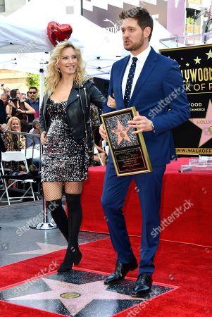 Stock Image of Michael Buble and Luisana Lopilato