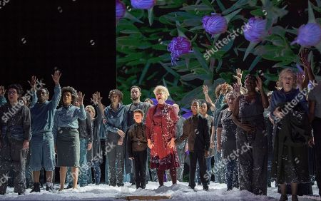 Editorial photo of 'War Requiem' by Benjamin Britten performed by English National Opera at the London Coliseum, UK, 15 Nov 2018