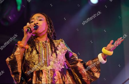 Mali's singer Oumou Sangare performs as part of 20th WOMAD Gran Canaria Festival in Las Palmas de Gran Canaria, Canary Islands, Spain, 16 November 2018 (issued 17 November 2018). The festival runs from 15 to 18 November 2018.