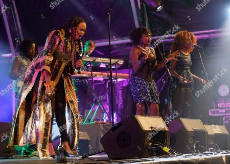 Mali's singer Oumou Sangare (L) performs as part of 20th WOMAD Gran Canaria Festival in Las Palmas de Gran Canaria, Canary Islands, Spain, 16 November 2018 (issued 17 November 2018). The festival runs from 15 to 18 November 2018.
