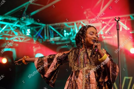 Stock Photo of Mali's singer Oumou Sangare performs as part of 20th WOMAD Gran Canaria Festival in Las Palmas de Gran Canaria, Canary Islands, Spain, 16 November 2018 (issued 17 November 2018). The festival runs from 15 to 18 November 2018.