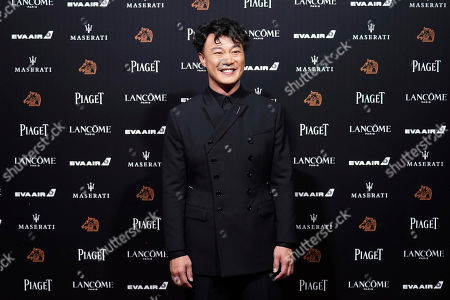 Hong Kong singer Eason Chan poses on the red carpet at the 55th Golden Horse Awards in Taipei, Taiwan, . Chan is the guest at this year's Golden Horse Awards, one of the Chinese-language film industry's biggest annual events
