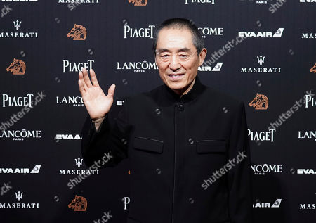"""Chinese director Zhang Yimou arrives at the 55th Golden Horse Awards in Taipei, Taiwan, . Zhang is nominated for Best Director for the film """"Shadow"""" at this year's Golden Horse Awards -one of the Chinese-language film industry's biggest annual events"""
