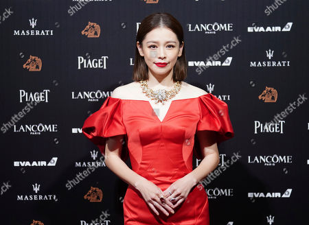 Stock Picture of Taiwanese actress Vivian Hsu poses on the red carpet at the 55th Golden Horse Awards in Taipei, Taiwan, . Hsu is the guest at this year's Golden Horse Awards, one of the Chinese-language film industry's biggest annual events