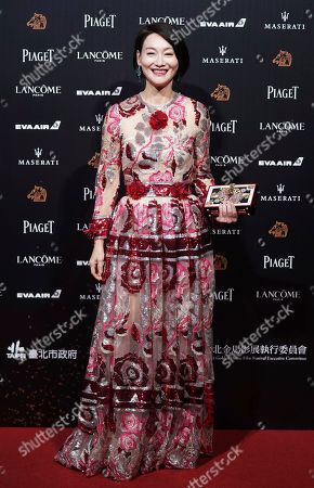 """Hong Kong actress Kara Wai arrives at the 55th Golden Horse Awards in Taipei, Taiwan, . Wai is nominated for Best Supporting Actress for the film """"Tracey"""" at this year's Golden Horse Awards -one of the Chinese-language film industry's biggest annual events"""