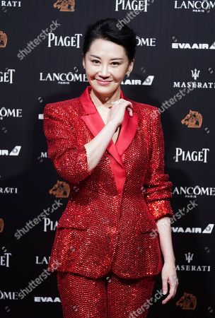 "Stock Image of Chinese actress Xu Qing arrives at the 55th Golden Horse Awards in Taipei, Taiwan, . Xu is nominated for Best Supporting Actress for the film ""Hidden Man"" at this year's Golden Horse Awards -one of the Chinese-language film industry's biggest annual events"
