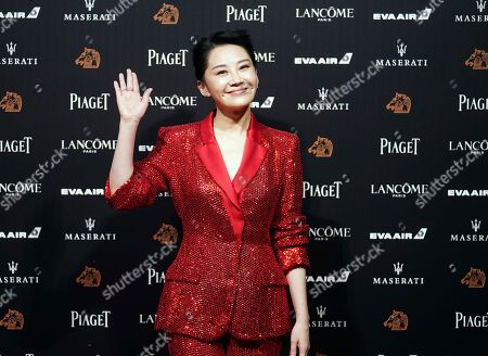 "Stock Picture of Chinese actress Xu Qing arrives at the 55th Golden Horse Awards in Taipei, Taiwan, . Xu is nominated for Best Supporting Actress for the film ""Hidden Man"" at this year's Golden Horse Awards -one of the Chinese-language film industry's biggest annual events"