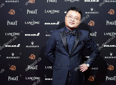 """Stock Image of Chinese director Bi Gan arrives at the 55th Golden Horse Awards in Taipei, Taiwan, . Bi is nominated for Best Director for the film """"Long Day's Journey Into Night"""" at this year's Golden Horse Awards -one of the Chinese-language film industry's biggest annual events"""