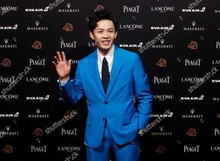 "Stock Picture of Taiwanese actor Lee Hong-chi arrives at the 55th Golden Horse Awards in Taipei, Taiwan, . Lee is nominated for Best Supporting Actor for the film ""Cities of Last Things"" at this year's Golden Horse Awards -one of the Chinese-language film industry's biggest annual events"
