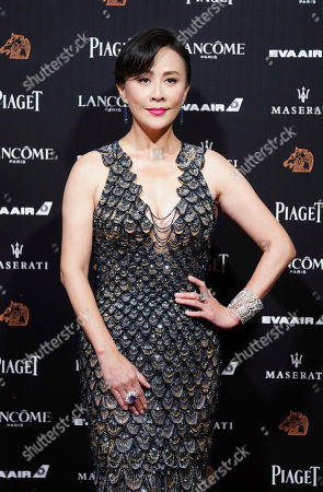 Stock Picture of Hong Kong actress Carina Lau poses on the red carpet at the 55th Golden Horse Awards in Taipei, Taiwan, . Lau is the guest at this year's Golden Horse Awards, one of the Chinese-language film industry's biggest annual events