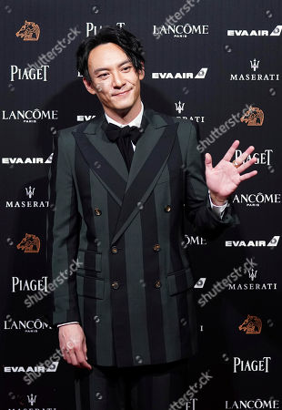 Stock Image of Taiwanese actor Chang Chen poses on the red carpet at the 55th Golden Horse Awards in Taipei, Taiwan, . Chang is the guest at this year's Golden Horse Awards, one of the Chinese-language film industry's biggest annual events