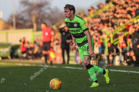 Forest Green Rovers Theo Archibald(18) on the ball during the EFL Sky Bet League 2 match between Forest Green Rovers and Morecambe at the New Lawn, Forest Green