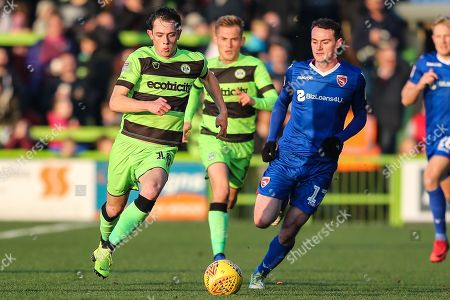 Forest Green Rovers Theo Archibald(18) runs forward during the EFL Sky Bet League 2 match between Forest Green Rovers and Morecambe at the New Lawn, Forest Green