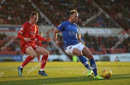Matthew Taylor of Swindon  and  Hallam Hope of Carlisle United