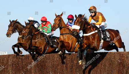 R to L; THEATRE TERRITORY (Sam Waley-Cohen), THE WORLDS END (Adrian Heskin), MINELLA AWARDS (2nd left) and BRYNMAWR (left) Cheltenham