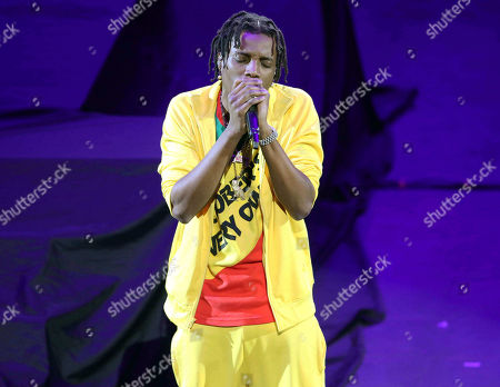 Stock Photo of Roy Woods, Denzel Spencer. Roy Woods performs during the Aubrey & the Three Migos Tour at State Farm Arena, in Atlanta