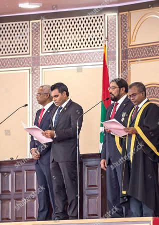 Editorial image of Maldive's New President Ibrahim Mohamed Solih's swearing-in ceremony in Male, Maldives - 17 Nov 2018