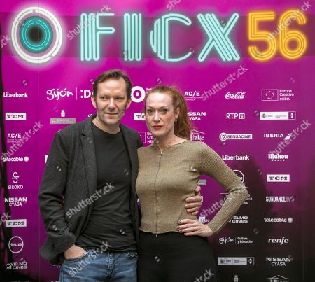 Italian scriptwriter and producer Tizza Covi (R) and Austrian director and photographer Rainer Frimmel (L) pose during an interview to talk about their win of the 'Honor Award' at the Gijon International Film Festival, in Gijon, Spain, 17 November 2018.