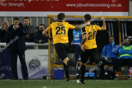 Simon Walton celebrates scoring Maidstone's opening goal during Maidstone United vs Wrexham, Vanarama National League Football at the Gallagher Stadium on 17th November 2018