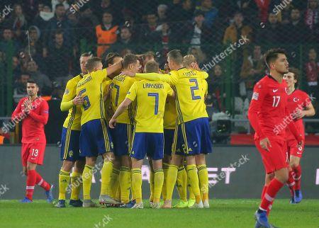 Editorial picture of Sweden Nations League Soccer, Konya, Turkey - 17 Nov 2018