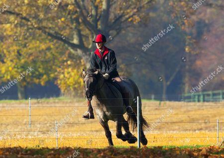 Royals riding at Windsor Castle