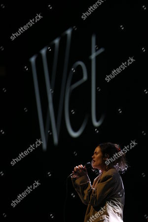 Editorial photo of Wet in concert at the Hydro, Glasgow, Scotland, UK - 17th November 2018
