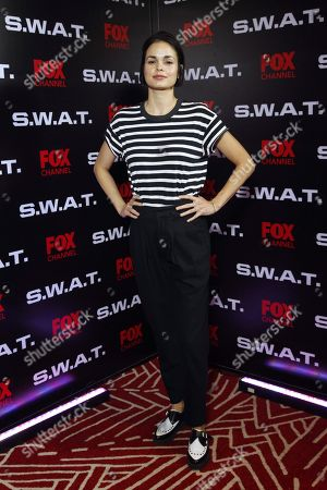 Stock Image of Lina Esco poses during the presentation of the new season of the US TV series 'S.W.A.T.' in Mexico City, Mexico, 17 November 2018.