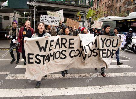 Walk in solidarity of the Migrant Caravan, New York