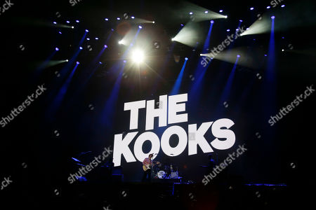 Stock Image of Luke Pritchard of The Kooks performs during the Corona Capital music festival in Mexico City