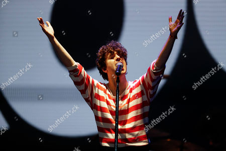 Luke Pritchard of The Kooks performs during the Corona Capital music festival in Mexico City