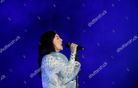 New Zealand singer and songwriter Lorde, performs during the Corona Capital music festival in Mexico City