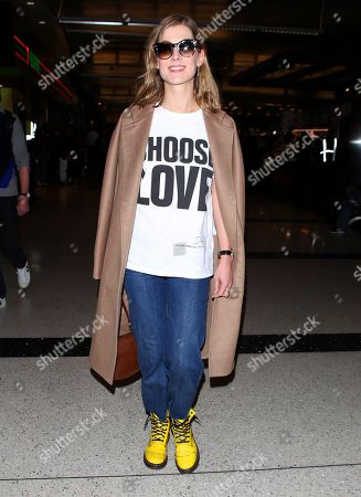 Rosamund Pike at LAX International Airport, Los Angeles